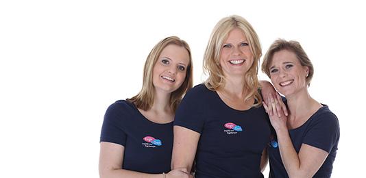 Ergotherapeuten Susan, Patricia en Esther van Ergotherapiepraktijk Ergo Oost